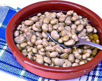 Beans with olive oil Royalty Free Stock Images