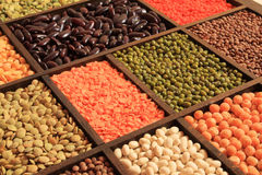 Beans, peas and soybeans Stock Photography