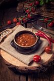 Beans with piquant Tomato sauce Stock Image
