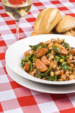 Beans and Pork Sausages Royalty Free Stock Images