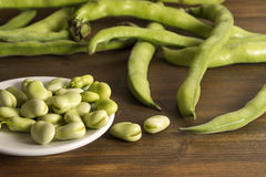 Beans on pot Royalty Free Stock Image