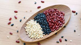 Beans red black and job's tear multigrain protien food Royalty Free Stock Photo