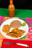 Beans and Rice with Enchiladas Royalty Free Stock Image