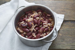 Beans and rice. Stew of red beans and rice Royalty Free Stock Image