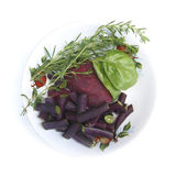 Beans,rosemary, basil and red beets Royalty Free Stock Images