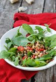 Beans and ruccola salad Stock Photos