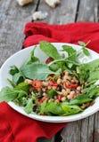 Beans and ruccola salad Stock Photos