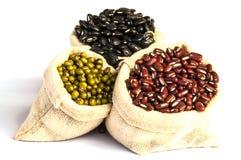 Beans sack. On white background Stock Photo