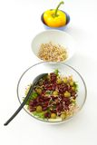 Beans Salad, Germs and Yellow Pepper Royalty Free Stock Photography