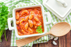 Beans in sauce Stock Photography