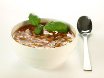 Beans with sauce, isolated Stock Photos