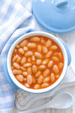 Beans in sauce Stock Photo