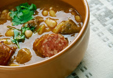 Beans with sausages Stock Photography