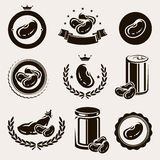 Beans set. Vector. Beans set. This is file of EPS8 format Royalty Free Stock Images