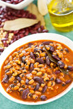 Beans soup [Bean stew ] Stock Photo