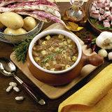 Beans soup. Bean soup whit some vegetable Stock Photography