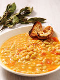 beans soup  and laurel Stock Photo