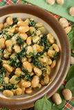 Beans with spinach Stock Photography
