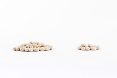Beans three quarter and quarter pile Royalty Free Stock Photos