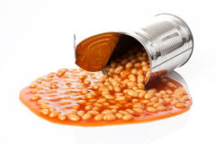 Beans in tin can Stock Photo