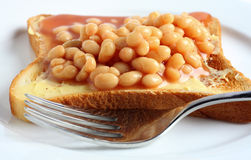 Beans on toast Stock Photo
