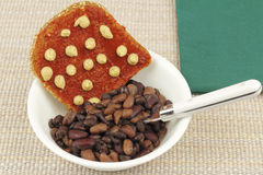 Beans and Toast Royalty Free Stock Photography