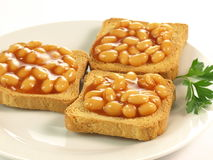 Beans on toast Stock Photos
