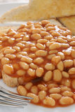 Beans on toast Stock Images