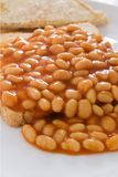 Beans on toast Royalty Free Stock Image