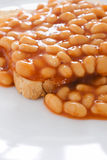 Beans on toast Royalty Free Stock Photos