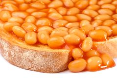 Beans On Toast Close Up Royalty Free Stock Photo