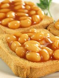Beans on toast, closeup Stock Photo