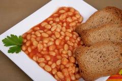 Beans on tomato Royalty Free Stock Image