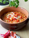 Beans in tomato sauce in a bowl Royalty Free Stock Image
