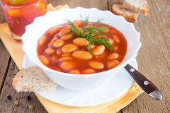 Beans in tomato sauce Royalty Free Stock Photo
