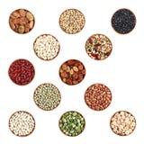 Beans variety on white Stock Photo
