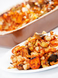 Beans with vegetables casserole Stock Image