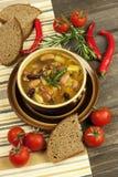 Beans vegetarian soup Stock Image