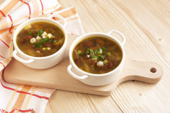 Beans vegetarian soup Stock Images