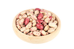 Beans in wooden bowl Stock Photography