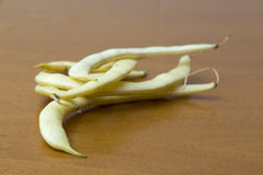 Beans of yellow pod, plant species Royalty Free Stock Photography