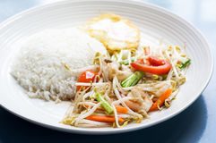 Beansprout with shrimp Royalty Free Stock Photos