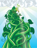 Beanstalk. Illustration of a beanstalk from the fairytale of Jack and the Beanstalk Royalty Free Stock Photo