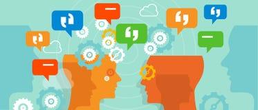 Beanstandungskunde sprechen Gesprächsblasengespräch Stockbild