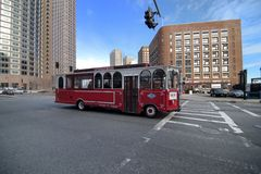 beantown波士顿公共汽车马萨诸塞浏览 图库摄影