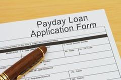 Beantragen ein Zahltag-Darlehen lizenzfreies stockbild