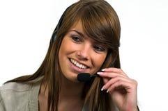 Beantworten des Telefons Stockfoto