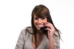 Beantworten des Telefons Lizenzfreie Stockfotografie
