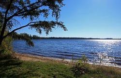 Bear湖在北明尼苏达 库存照片