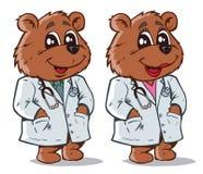 Bear医生。一部分的系列。 库存图片